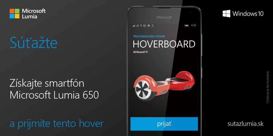 Get smartphone Microsoft Lumia 650 and win a hoverboard